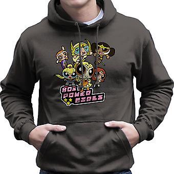 Osiemdziesiątych moc dziewczyny Powerpuff męska Bluza z kapturem