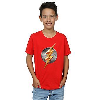 בנים DC קומיקס ליגת הצדק סרט פלאש סמל טי-שרט