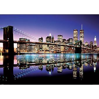 NYC Brooklyn Bridge affisch affisch Skriv