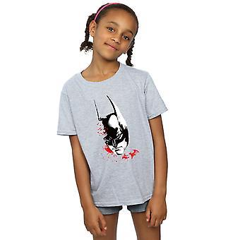 DC Comics niñas Batman Arkham caballero murciélagos cara t-shirt
