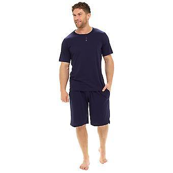 Tom Franks Mens Plain Polycotton Short Summer Lounge Pijamas