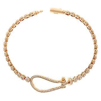 Orphelia Silber 925 Rose Armband 19 Cm ZA-6093