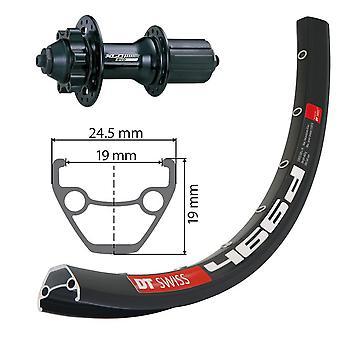 XLC 26″ rear of DT Swiss 466D disc + XLC Evo 6-hole 8-10-fold