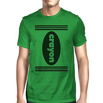 تلوين القميص الأخضر رجالي الرسم جولة الرقبة هالوين المحملة القميص
