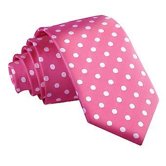 Hot Pink Polka Dot Slim Krawatte