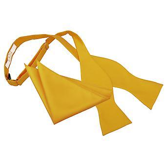 Girassol ouro sólido Check auto atar gravata & conjunto de bolso quadrado
