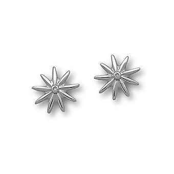 Sterling Silver Elegant Daisy pari korva korut-Cubic Zirkonia Stones-CE434