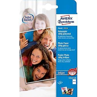 Avery-Zweckform Classic Photo Paper Inkjet C2522-60 Photo paper 10 x 15 cm 180 g/m² 60 sheet Glossy