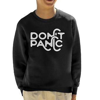 Must Read Book Covers Dont Panic Hitchhikers Guide To The Galaxy Kid's Sweatshirt