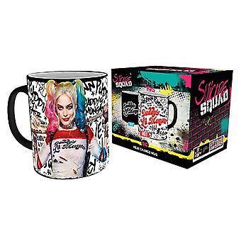 Suicide Squad cup Daddy's Lil Monster met thermisch effect zwart, bedrukt, gemaakt van keramiek, socket÷gen ca. 320 ml..