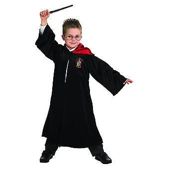 Harry Potter Deluxe robe black costume children carnival cloak Halloween Wizard