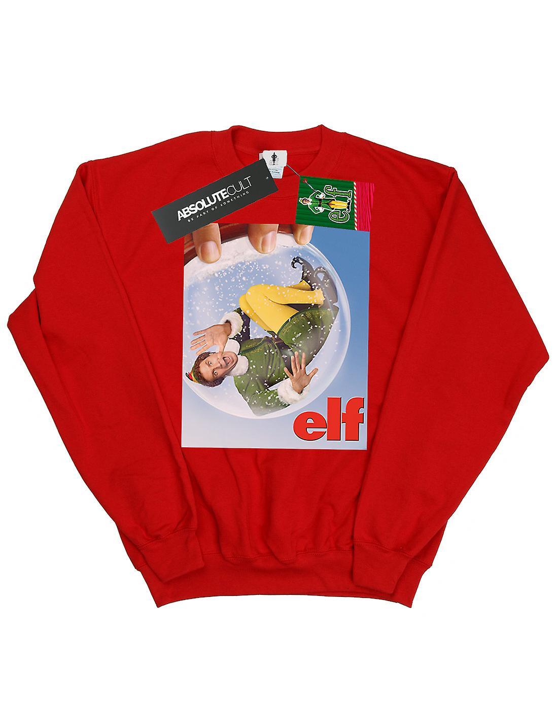 Elf Girls Snow Globe Poster Sweatshirt