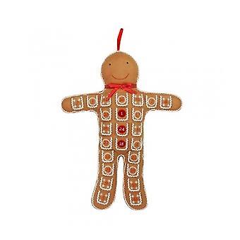 Gisela Graham Gingerbread Man Felt Advent Calendar