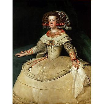 Infanta Maria Teresa, Diego Velazquez, 50x40cm