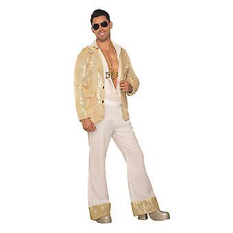 Disco pantalon blanc / Sequins Std.