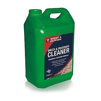 Brick and Masonry Cleaner 5L Ready to Use by Spear & Jackson