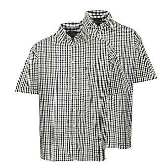 2 pack miesten mestari maa tyyli rento uloskirjautuminen lyhythihainen paita 3036