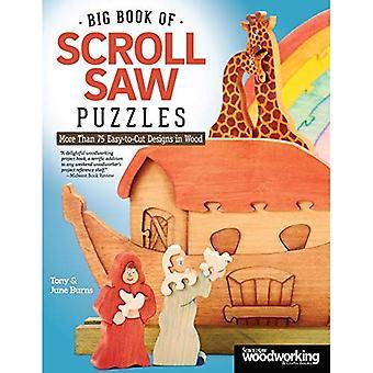 Grand livre de la scie à chantourner Puzzles: plus de 75 modèles facile à découper en bois