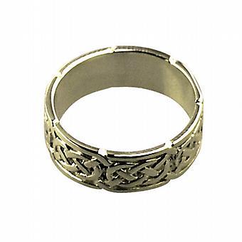 18 قيراط الذهب 6 مم سلتيك خاتم الزواج حجم Q