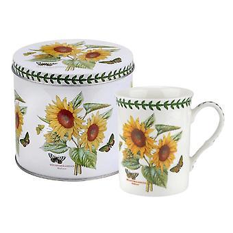 Portmeirion Botanic Garden Sonnenblume Becher und Zinn Set