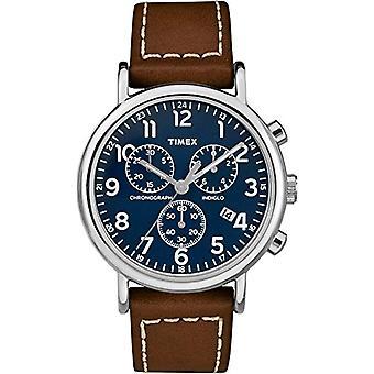 Kvarts Chronograph Watch Timex Unisex voksen med en Lær stropp TW2R42600