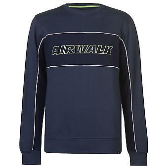 Airwalk Mens Logo suéter cuello redondo camiseta Tee Top
