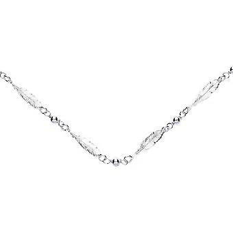 Bella Multi Feather Necklace - Silver