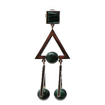 Tory Burch 49892747 Women's Green Brass Earrings