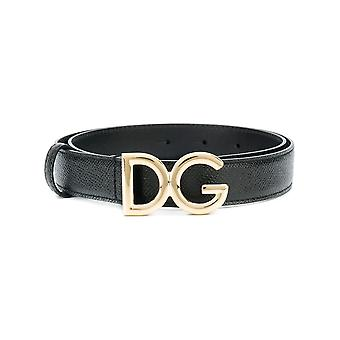 Dolce E Gabbana Be1297a100180999 Naiset's Musta nahkavyö