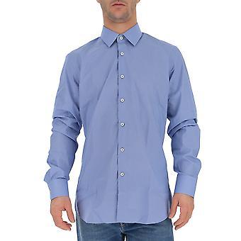 Prada Ucm6081tc0f0076 Männer's hellblau Baumwollshirt