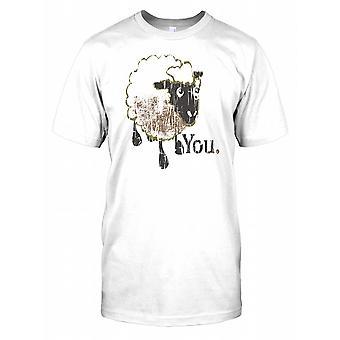 Sua uma ovelha - grande irmão - conspiração crianças T camisa