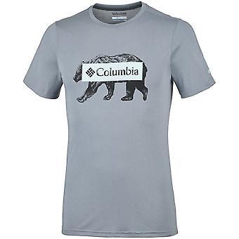 Columbia Box Logo Bear EM0745021 universell sommer menn t-skjorte
