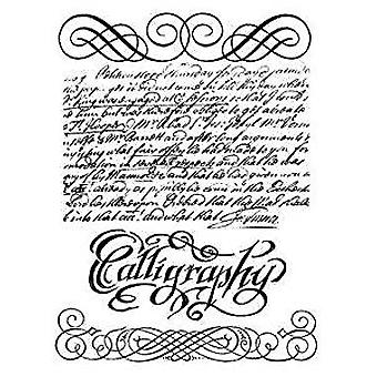 Stamperia Natural Rubber Stamps Calligraphy (WTKCC118)
