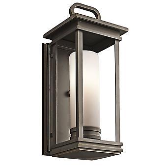 Elstead-1 Light medium Wall Lantern-gnidd Bronse Finish-KL/Sør HOPE/M