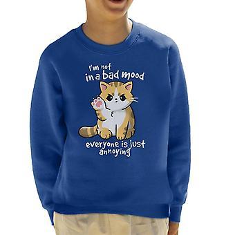 Im Not In A Bad Mood Cat Kid's Sweatshirt