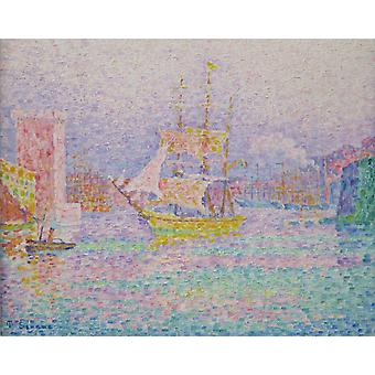 Harbour at Marseilles, Paul Signac, 50x40cm