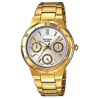 Casio Sheen Ladies Gold chronograaf horloge SHE-3800GD-7AEF