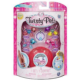 Twisty Petz bebês glitzy pulseiras, 4 Pack Set, cores misturadas
