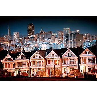 Fondo de pantalla Mural Paisaje Urbano en San Francisco