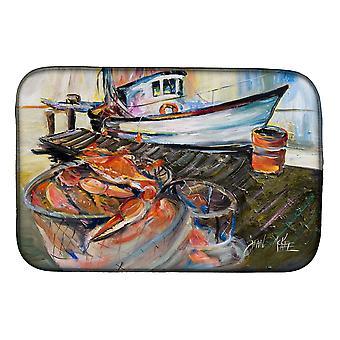 Carolines Treasures  JMK1104DDM Blue Crab Trap Dish Drying Mat