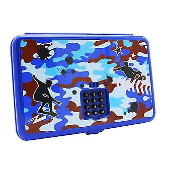 Caixa quente do trinket de Digitas do foco com código secreto, camo azul