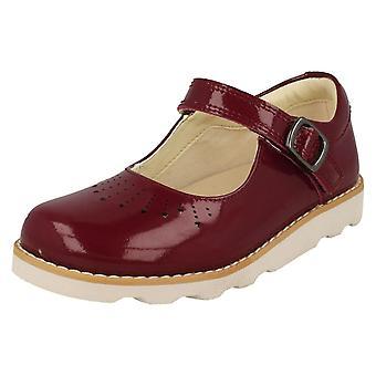Flickor Clarks klipp ut detaljerade skor Crown hopp