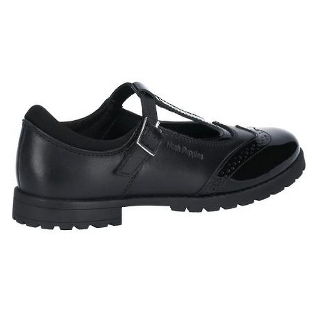 Hush Puppies Girls Maisie Junior Leather Buckle School Shoe