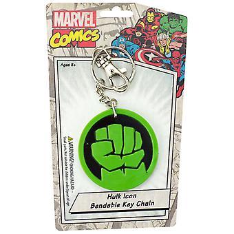 Key Chain - Marvel - Hulk Icon Bendable New Toys Licensed krb-4616