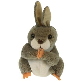Finger Puppet - Rabbit (Grey) New Soft Doll Plush PC020234