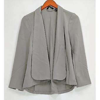 H door Halston vrouwen ' s lange mouw open front jas grijs A303200