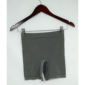 Breezies Panties Soft Knit Seamless Boyshort Style Gray
