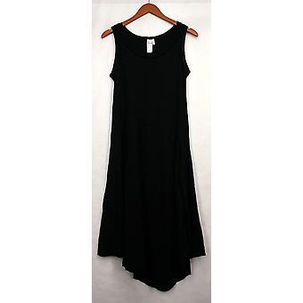 Holly Robinson Peete Sleeveless Thermal Knit Dress Hem Black A434170
