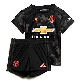 adidas Manchester United 2019/20 Bambini Neonati Bambino Terzo Calcio Kit Nero