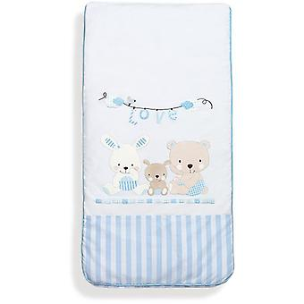 Interbaby Coordinated 3 Pieces Bag Model Love Blue (Textile , Child's , Linens)
